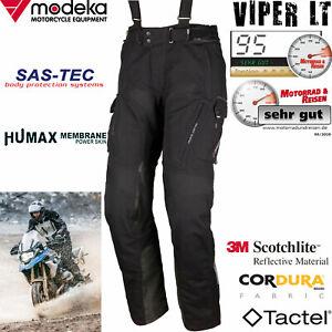 MODEKA VIPER LT Herrenhose schwarz Motorrad SAS-TEC Tactel Aramid Humax Cordura