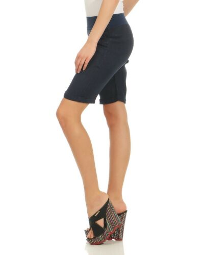 Damen Leinenshorts Kniebundhose Bermudahose kurze Schlupfhose knielang Sommer