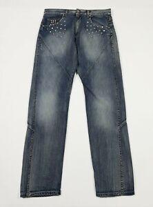 X-cape-jeans-uomo-usato-W34-tg-48-relaxed-comfort-boyfriend-gamba-dritta-T5416