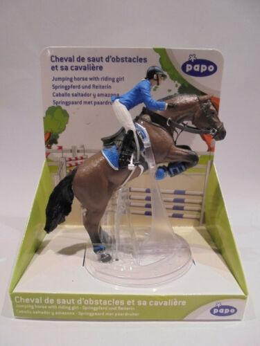 20-66 PAPO 51560 Springreiterin Reiter mit Pferd Reiter Reiterhof