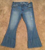 American Eagle Ae Boho Artist Jeans, Size 16 Regular, Stretch