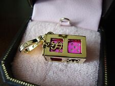 NEW JUICY COUTURE PINK PAVE DICE CHARM FOR BRACELET NECKLACE OR HANDBAG