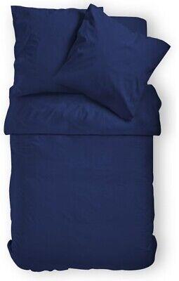 2 Bettwäsche 4 Tlg Bettwäsche Bettgarnitur Bettbezug Mikrofaser Navy Blau 135 X 200 Öko Ausreichende Versorgung