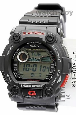 G-7900-1 Black Casio Men's Watches G-Shock Mineral Glass Digital 200m Resin Band