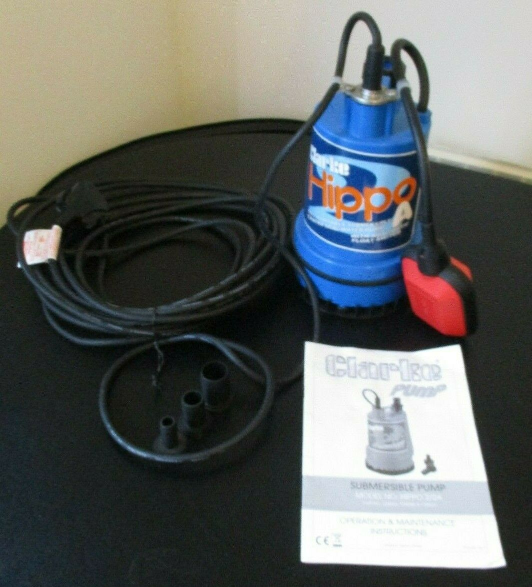 Clarke Submersible Pump Model Hippo 2/2A c/w Instructions Warrington WA5 8QN