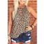 Women-Summer-O-Neck-T-Shirt-Leopard-Blouse-Casual-Beach-Tops-Sleeveless-Tank thumbnail 7