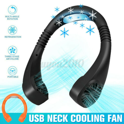 USB Portable 2 In 1 Air Cooler Mini Electric Air Conditioner Neck Cooling Fan
