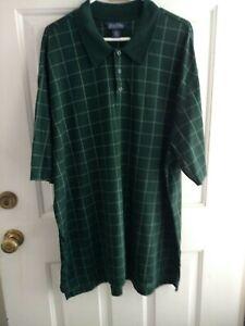 AgréAble Brooks Bros Vert Carreaux Polo Shirt, Homme Taille Xxl, Excellent état-afficher Le Titre D'origine