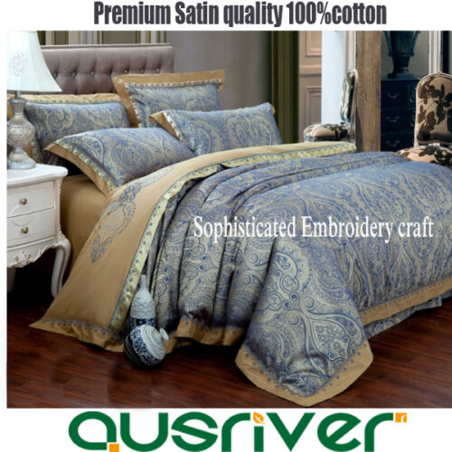 Premium 4pcs Satin Royal Double//Queen//King Size Bed Quilt//Doona//Duvet Cover Sets