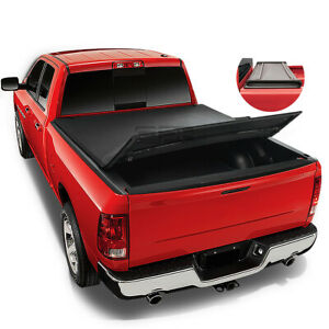 For 2002-2016 Dodge Ram 1500 2500 3500 6.5 Ft Bed Soft Tri-Fold Tonneau Cover