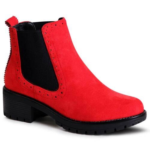 Damen Velours Stiefeletten Chelsea Boots Plateau Ankle Boots Booties