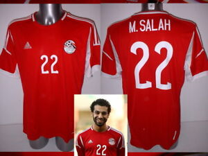 size 40 d22fc 54405 Details about Egypt Mo Salah Adidas FORMOTION Adult XL BNWT Shirt Jersey  Soccer Liverpool Top