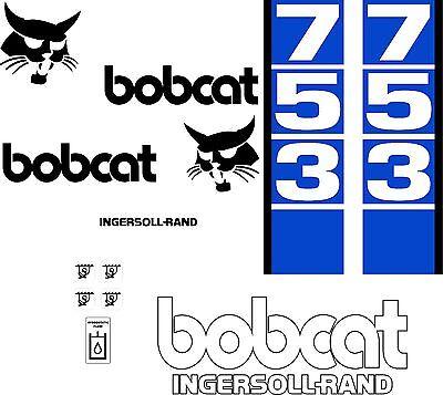 763 d Replacement decals decal kit sticker set skid loader steer fits bobcat
