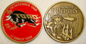 USS Entemedor SS 340 Submarine Coin From the Depths