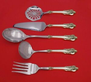 Grand-Baroque-by-Wallace-Sterling-Silver-Thanksgiving-Serving-Set-5pc-Custom