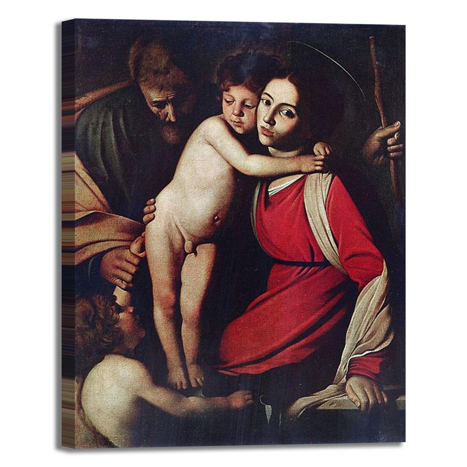 Caravaggio sacra famiglia famiglia famiglia san Giovanni quadro stampa tela dipinto arrossoo casa d42885