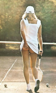 framed print   iconic poster tennis girl scratching her