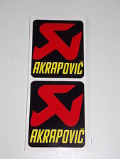 2 x Akrapovic Aufkleber - 100mm x 82mm, schwarz - Rot - Gelb