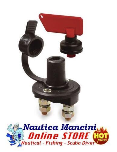 INTERRUTTORE STACCABATTERIA 6V 12V 24V 100A CAPPUCCIO X CAMPER BARCA AUTO MOTO