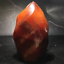 Natural-carnelian-flame-Shape-Quartz-Crystal-agate-torch-specimen-Healing-200g thumbnail 8
