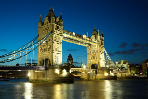 320P -350x260cm-7Bahnen 50x260cm-Thames England Fototapete-TOWER BRIDGE LONDON-