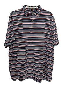 Peter-Millar-Mens-L-Multicolor-Polo-Shirt-Short-Sleeve-Striped-Delaware