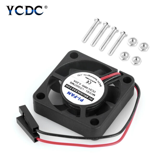 Cooling Fan For Raspberry Pi 3 2 Model B Pi 3 B+ Pi A+ DC 5V/0.2A 30x30x7mm 7FE