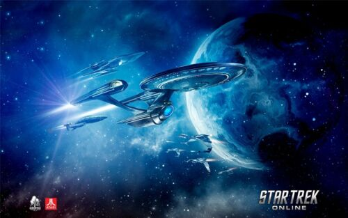"""Star Trek Outer Space Movie Game Art Fabric Wall Poster 21/""""x13/""""  017"""