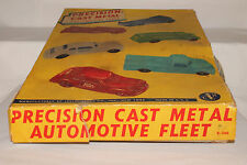 1950's Leslie-Henry Die Cast Race Car Set with Gulf, Cities Service, Wrecker