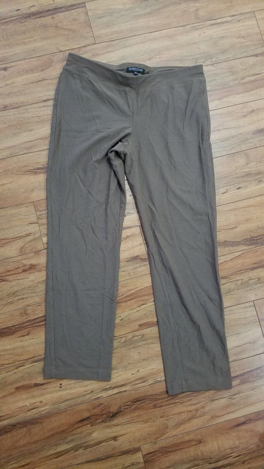 Eileen fisher petite golden brown 90% organic cotton 10% lycra pants size ps