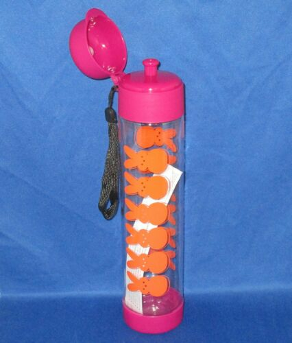 Plastic Water Bottle - NEW Peeps Orange Bunny with Pink Accent 25 oz