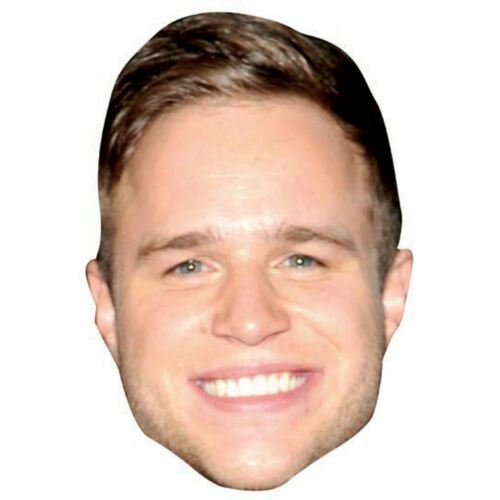 Card Face and Fancy Dress Mask Olly Murs Celebrity Mask