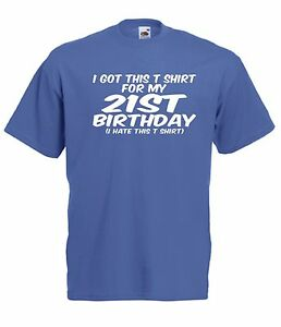 T-Shirts 21st BIRTHDAY T SHIRT present NEW Men Women TOP size 8 10 12 14 16 s m l xl xxL