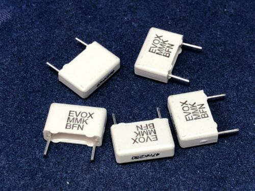 Pack of 5 5 x Kemet 47nF Polyester Capacitor PET 160 V ac 250 V dc 10/%