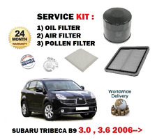FOR SUBARU TRIBECA 3.0i B9 1/2005-> SERVICE SET OIL AIR POLLEN FILTER KIT