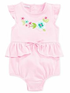 First-Impressions-Baby-Girls-Pink-Floral-Peplum-Bodysuit-Ruffled-Romper-Sunsuit