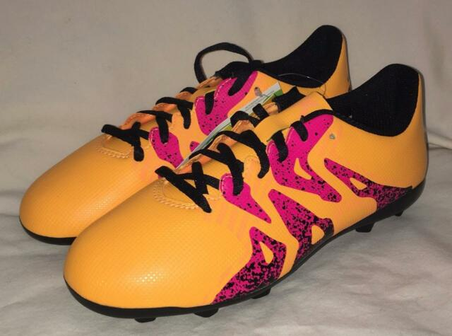 fb59b4065 New ADIDAS X 15.4 FXG Soccer Cleats Shoes size 5 Youth Junior Gold Pink  Black