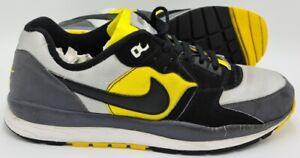 Nike-Air-Windrunner-Vintage-Scarpe-da-ginnastica-317754-902-Nero-Grigio-Giallo-UK10-US11-EU45