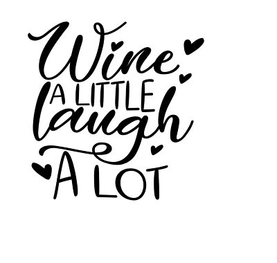 Wine Bottle Glass Cup Art Sticker Vinyl Decals Quote Sayings Transfer Gift