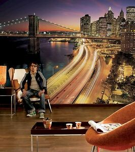 NEW YORK CITY LIGHTS FULL SIZE KOMAR WALL MURAL eBay