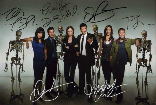 Bones Tv Show Poster Cast Multi Signed Autograph PRINT 6x4/' Gift Present!!!