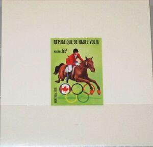 Upper-Volta-obervolta-1976-618-391-Deluxe-Olympia-montreal-montar-a-caballo-Horse-ridding