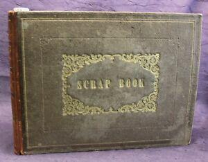 Scrap-Book-mit-Stahlstich-Holzstich-Lithografien-Fotografien-1850-1880-js
