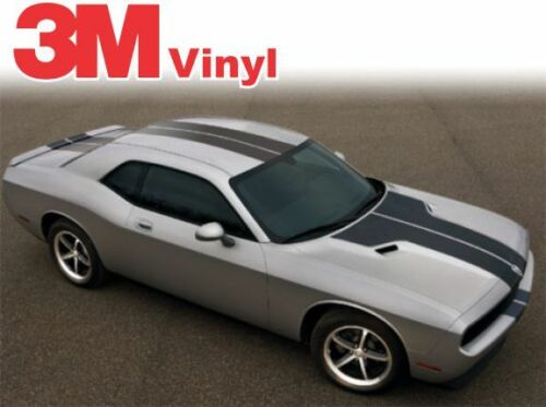 2008 TO 2014 DODGE Challenger Rally Racing Graphic Stripes Decal 3M