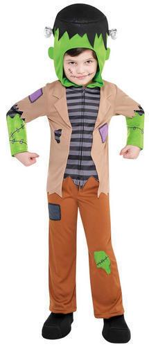 Frankenstein Ragazzi Costume Halloween Mostro Spettrale per Bambini Costume