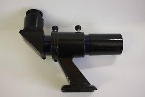 6x30mm-Crosshair-Erect-Image-Right-Angle-Telescope-Finderscope-amp-Bracket-BLUE
