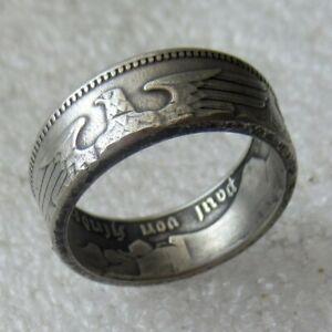 WW2-Militaria-Allemand-Bague-anneaux-39-45-artisanat-bijoux-Soldats-wwii