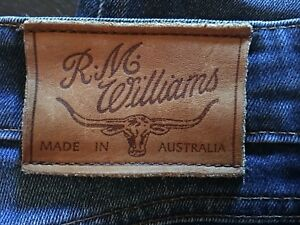 R-M-WILLIAMS-BLUE-DENIM-VINTAGE-JEANS-SIZE-10-MADE-IN-AUSTRALIA