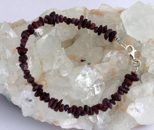 Rubin pulsera piedras preciosas pulsera rubinarmband astilla nuggets rojo joyas naturaleza