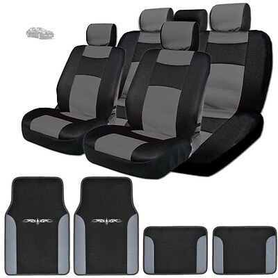 For Honda New Semi Custom Leatherette Seat Covers Split Seat Mats Set BG